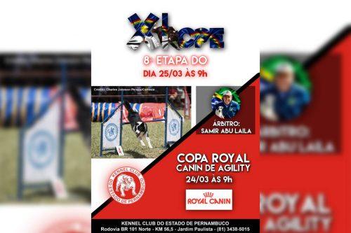I Copa Royal Canin de Agility – PE e 8ª Etapa – XI Campeonato Pernambucano de Agility – 24 e 25/03/2018
