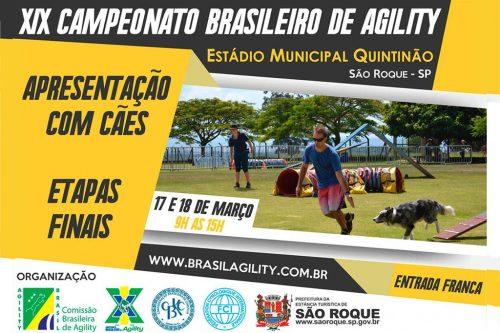 9ª e 10ª Etapas do XIX Campeonato Brasileiro de Agility – 17 e 18/03/2018