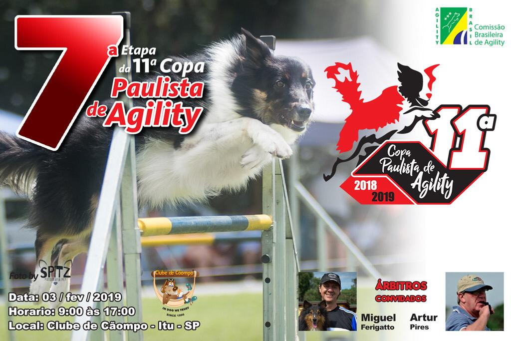 7ª Etapa – XI Copa Paulista de Agility – 03/02/2019