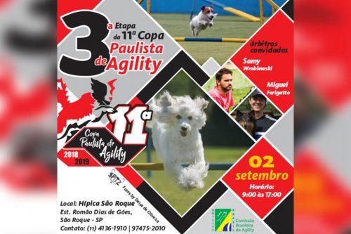 3ª Etapa – XI Copa Paulista de Agility – 02/09/2018